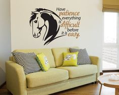 Horse wall quote decal  Equestrian decor  horse by thelatestBuzz, $20.00