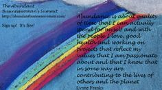 Abundance Quote, Lynne Franks. Abundant Businesswoman's Summit