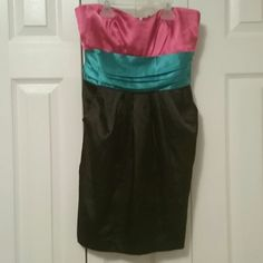 Sweetheart mini dress Adorable dress. NWOT. I never got to wear this it was too small for me, but I love it and would love for someone to enjoy it. This dress is a satin material. And has pockets who doesn't love a dress with pockets. Ali & Kris Dresses Mini