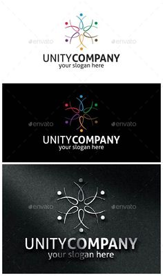 UnityCompany-Logo - Abstract #Logo #Templates Download here:  https://graphicriver.net/item/unitycompanylogo/10477555?ref=alena994