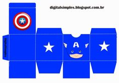 Free Printable Superheroes Cube Boxes. Avengers Birthday, Superhero Birthday Party, 4th Birthday Parties, Boy Birthday, Captain America Party, Captain America Birthday, Anniversaire Captain America, Superhero Baby Shower, Baby Shower Decorations For Boys