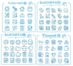Line art icons vector Vector icon - Free vector for free download