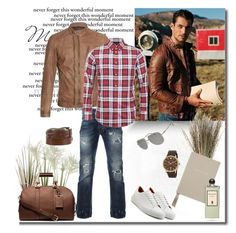 """""""Casual"""" by murenochek ❤ liked on Polyvore featuring Michael Kors, Lacoste, Belstaff, Dsquared2, Smythson, Maison Margiela, Ludwig Reiter, Emporio Armani, Serge Lutens and men's fashion"""