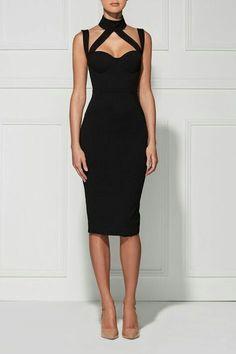Very stylish black dress
