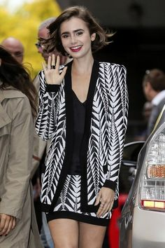 Lily Collins Photos: Lily Collins Leaves the ITV Studios