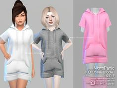 sims 4 cc // custom content kids clothing // Kid Drees Hoodie For The Sims 4 Source by clothes The Sims 4 Kids, Toddler Cc Sims 4, The Sims 4 Bebes, Sims 4 Toddler Clothes, Sims 4 Mods Clothes, The Sims 4 Pc, Sims 4 Cc Kids Clothing, Sims 4 Children, Cute Baby Clothes