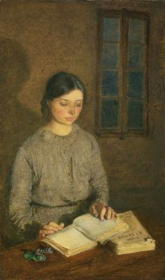 """Dorelia by Lamplight, at Toulouse Gwen John (Welsh, Oil on canvas. In John's work, as in Whistler's, the atmosphere of a portrait is just as important as the display. Reading Art, Woman Reading, I Love Reading, Reading Books, Gwen John, Mary John, Toulouse, I Love Books, Books To Read"