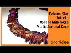 ▶ Tutorial | Polymer Clay | Murrina Foglia | un colore diverso in ogni foglia | DIY Leaf Cane - YouTube