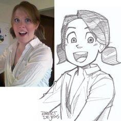 Forcedreception Sketch by Banzchan Portrait Au Crayon, Portrait Cartoon, Pencil Portrait, Foto Cartoon, Photo To Cartoon, Sketches Of People, Drawing People, Cartoon Sketches, Drawing Sketches