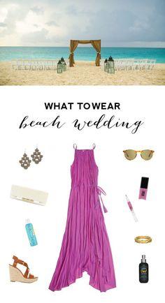 What to Wear to a Wedding - Bridal Musings Wedding Beach Formal Attire, Beach Wedding Guest Attire, Beach Wedding Guests, Beach Attire, Casual Wedding, Dress Wedding, Wedding Blog, Trendy Wedding, Outfit Beach