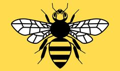 County Flag of Greater Manchester - honey bee