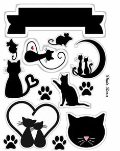 Leticia Kitten Party, Cat Party, Cat Birthday, Birthday Party Themes, Cat Cake Topper, Cat Applique, Cat Crafts, Scrapbook Sketches, Coloring Book Pages