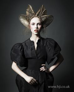 Indira Schauwecker BHA Avant Garde3 hairstyle Hair was tightly braided all over and formed into disk shapes all over the head. Stray ends were left loose. Hairstyle by: Indira Schawecker Salon: TONI Covent Garden Location: London