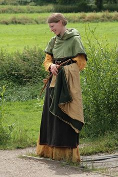 Medieval/Viking hooded short cloak. The colors are beautiful.