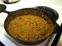 Kenyan Dengu  -  Mung Bean Stew. Yum. Best dish in Kenya.