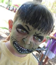 Face Painting Samples: The Hulk
