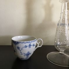 Vintage Blue Fjord Cup by L and M / Lipper & Mann / Danish China Cup / Blue and White Tea Cup by aniadesigns on Etsy