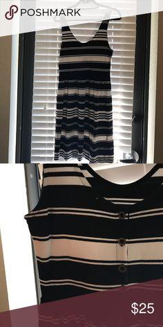 JCREW Navy stripped dress JCrew navy & white stripped dress J. Crew Dresses Midi