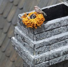 Dollhouse miniature bird nest 1/12 scale by Teruka on Etsy,
