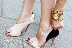 Two -tones Nude + Black Heels / Zara