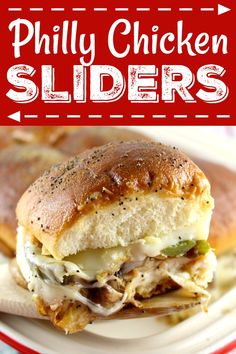 Recipe: Philly Chicken Sliders – and for any day of the week! Perf… Recipe: Philly Chicken Sliders – and for any day of the week! Perfect for watching or tonight. Chicken Philly Cheesesteak, Tapas, Slider Sandwiches, Beste Burger, Chicken Sandwich Recipes, Shredded Chicken Sandwiches, Chicken Sliders, Slider Recipes, Man Food