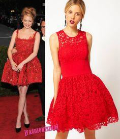 Vestidos rojos de encaje de noche