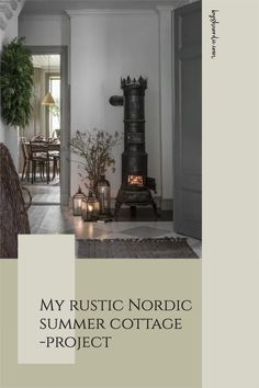 We bought our very own Nordic summer cottage a few years ago. A little red summer cottage. The previous owner was a little old lady who had lived there her whole life but wanted to move to a flat instead. Here is what we have planned for it. #summercottage #nordiccottage #rusticcottage #nordicdecor Red Cottage, Rustic Cottage, Modern City, All Modern, Painted Floorboards, Summer Cabins, Log Burning Stoves, Porch Windows, New Staircase
