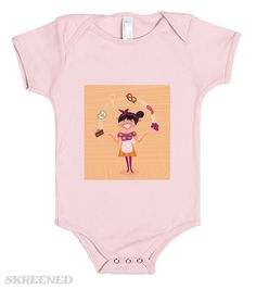 Check+out+my+new+design+on+@skreened Baby Body, News Design, Onesies, Printed, Check, Pink, T Shirt, Shopping, Clothes