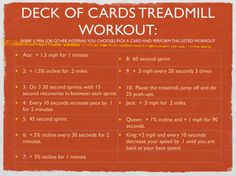 Deck of Cards Treadmill Workout