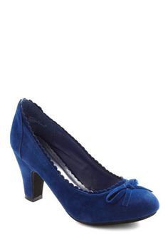 Surprise Celebration Heel in Cobalt  Can I get away with wearing a bright blue heel with a navy blue dress...?