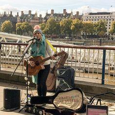 The brilliant Charlotte Campbell @ccampbellmusic on the Southbank -------- #photooftheday #potd #photo #photography #photographer  #nofilter #insta #scenery #beautiful #pretty #uk #england #london #city #citylife #architecture #landscape #londonlife #urban #adventure #music #art #southbank #busking #blueskies #charlottecampbell