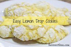 Easy Lemon Drop Cookie Recipe.