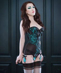 Morgana Femme Couture cupped overbust corset-girdle with brocade and powermesh | Mesh Corsets, Lucy's Corsetry