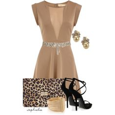 Nude Dress, created by stephiebees on Polyvore