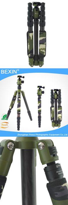 Professional Photography Carbon Fiber camera Tripod monopod with Detachable Ball head Kit For Canon Nikon Sony DSLR Camera stand
