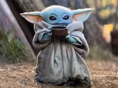 Baby Yoda With Cup Yoda Images Yoda Meme Yoda Wallpaper