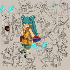 Yugo sketches  *^* ( wakfu ) ( not by me)