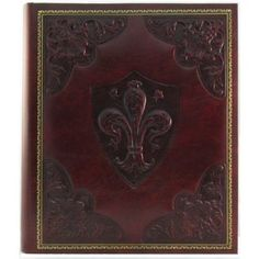 "Red Medici Italian Leather Photo Album / Wedding Album / Scrapbook, Embossed Art, 8x10"" $66.00"