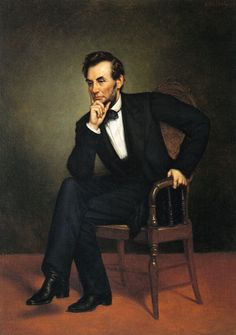 1809 Abraham Lincoln United States President Portrait American Painting Repro
