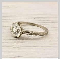 My to die for vintage ring. I really hope this becomes my wedding ring one day <33
