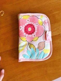 ソーイング:春色の母子手帳ケース