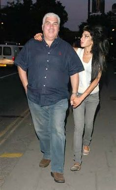amy winehouse and her father, Mitch