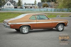 My third car: 1972 Chevrolet Rally Nova. It had a 350 cu. in. engine with headers, and a four-on-the-floor shifter. I loved that car.