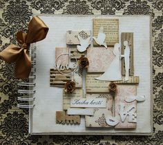 vintage wedding book