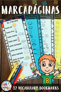 These bookmarks are a great resource to give to your students as a monthly incentive or a quick reference for basic Spanish vocabulary. There are twelve themed bookmarks that come with a picture to color and make learning more meaningful.