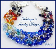 An expression of my love for color & the ocean - sunrise to sunset. Made it to #5 in the BeadStar 2011 contest, but that was 1 short of making it to the magazine:) beautiful Swarovski crystals