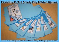 Favorite Kindergarten and 1st Grade File Folder Games - FREE #kindergarten #1stgrade