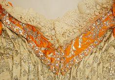 Court dress Date: 1892–93 Culture: Austrian Medium: silk, metallic thread, glass