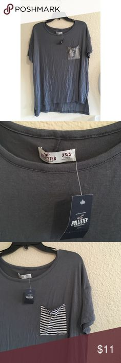 Grey oversized T-shirt New with tags, oversized, super soft Hollister Tops Tees - Short Sleeve