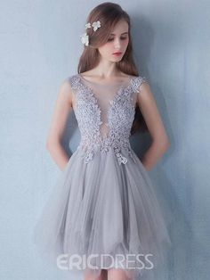 A-line Lace Short Prom Dresses,Lace and Tulle Homecoming Dresses on Storenvy Sweet 16 Dresses, Lovely Dresses, Elegant Dresses, Short Dresses, Formal Dresses, Sweet Dress, Girls Dance Dresses, Look Fashion, Homecoming Dresses
